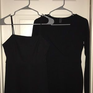 2 black forever 21 dresses never worn! Size M